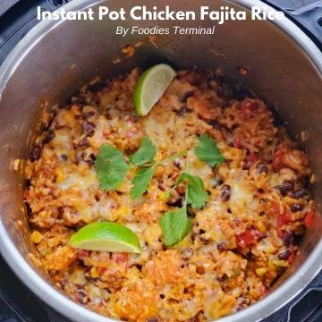 pressure cooker chicken fajita rice