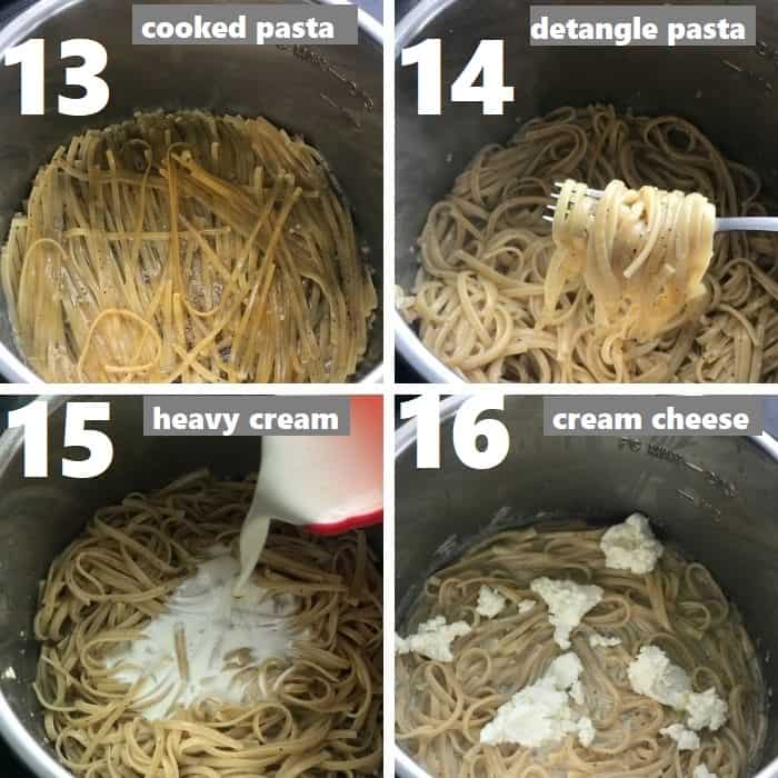 detangling cooked pasta in instant pot