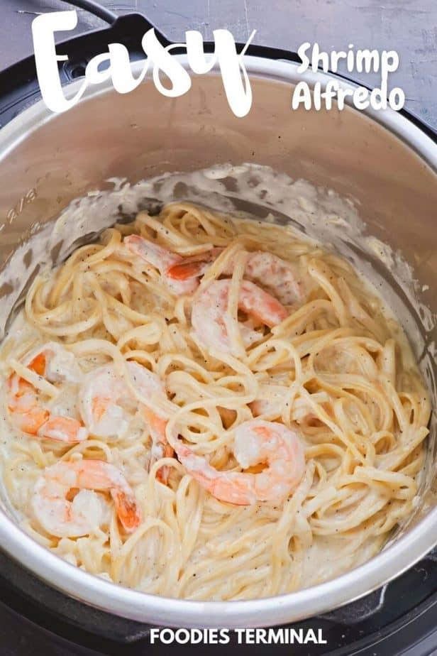creamy shrimp alfredo in instant pot