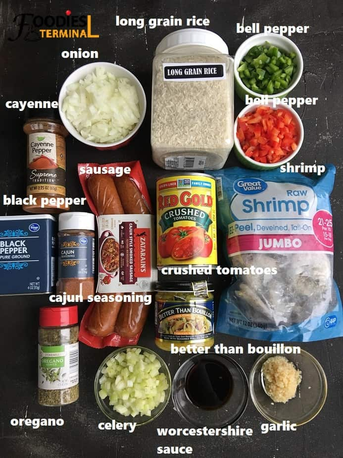 recipe ingredients on a black surface