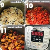 pressure cooking chicken fajita rice in instant pot