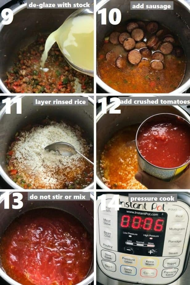 pressure cooking jambalaya in instant pot