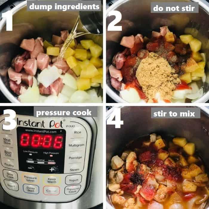 pressure cooking pork in instant pot