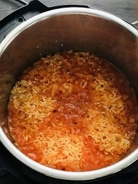 pressure cooked Mexican rice in instant pot