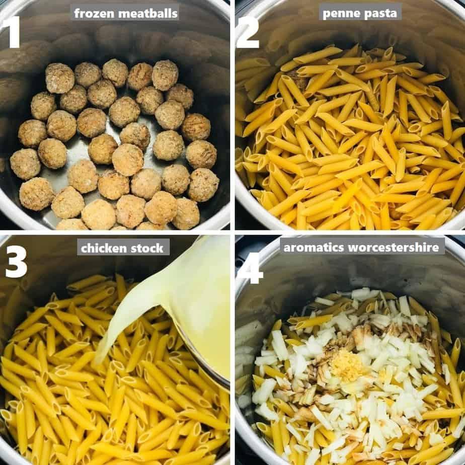 ingredients dumped in instant pot