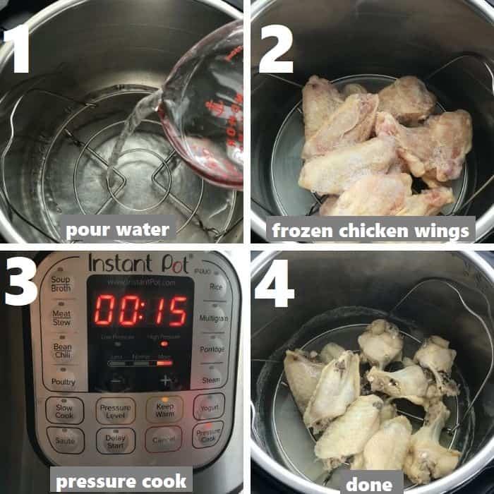 pressure cooking frozen chicken wings in instant pot