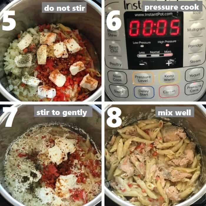 pressure cooking salmon pasta
