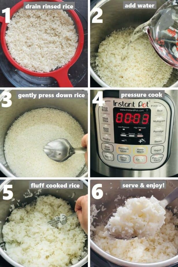 pressure cooking white jasmine rice in instant pot