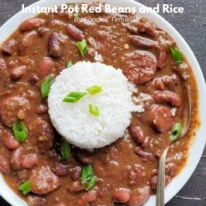 new orleans style red beans and rice with sausage in instant pot