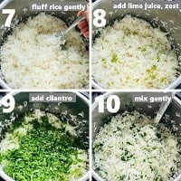 making cilantro lime rice in instant pot