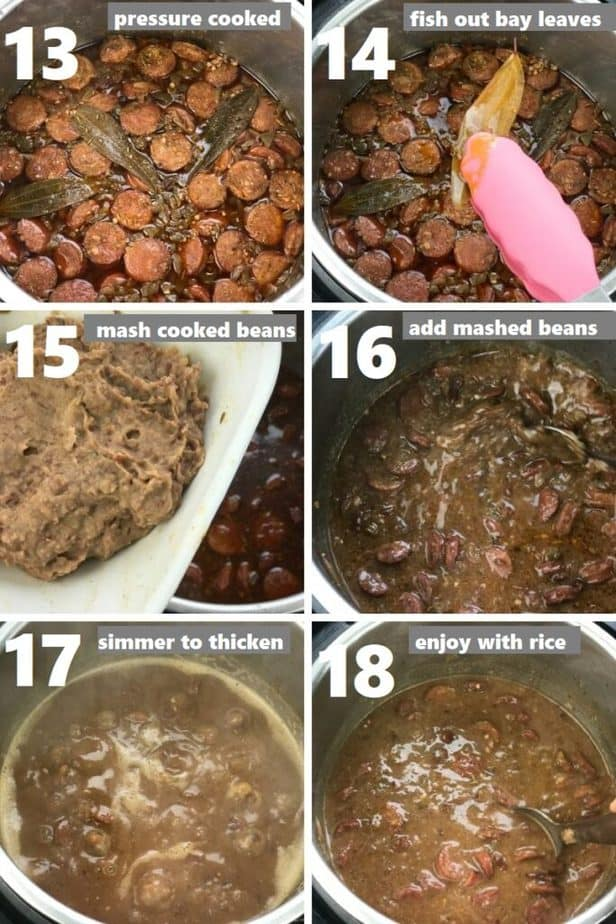thickening red beans and sausage