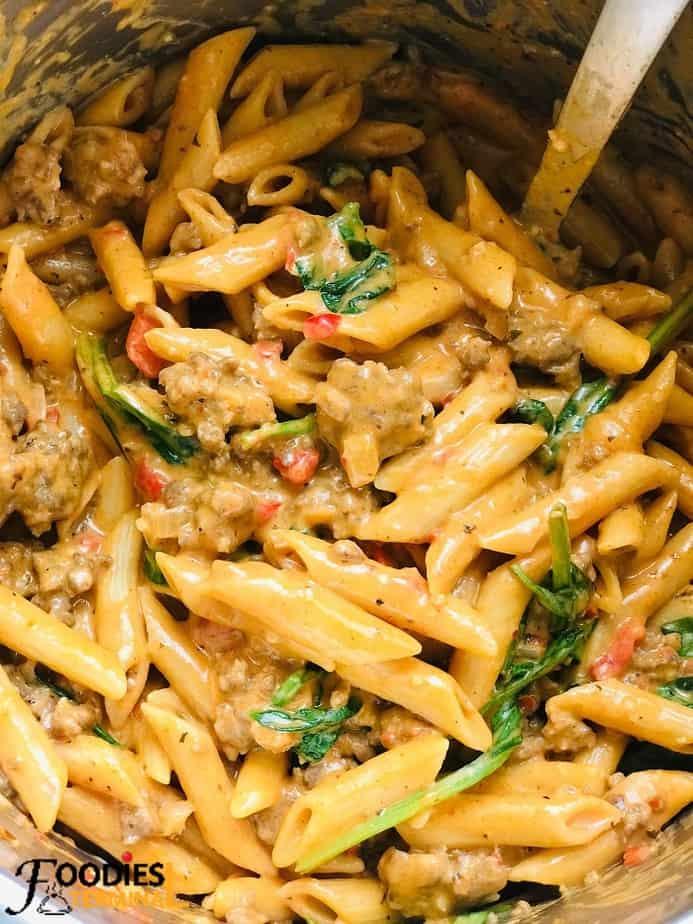 easy instant pot sausage pasta in instant pot