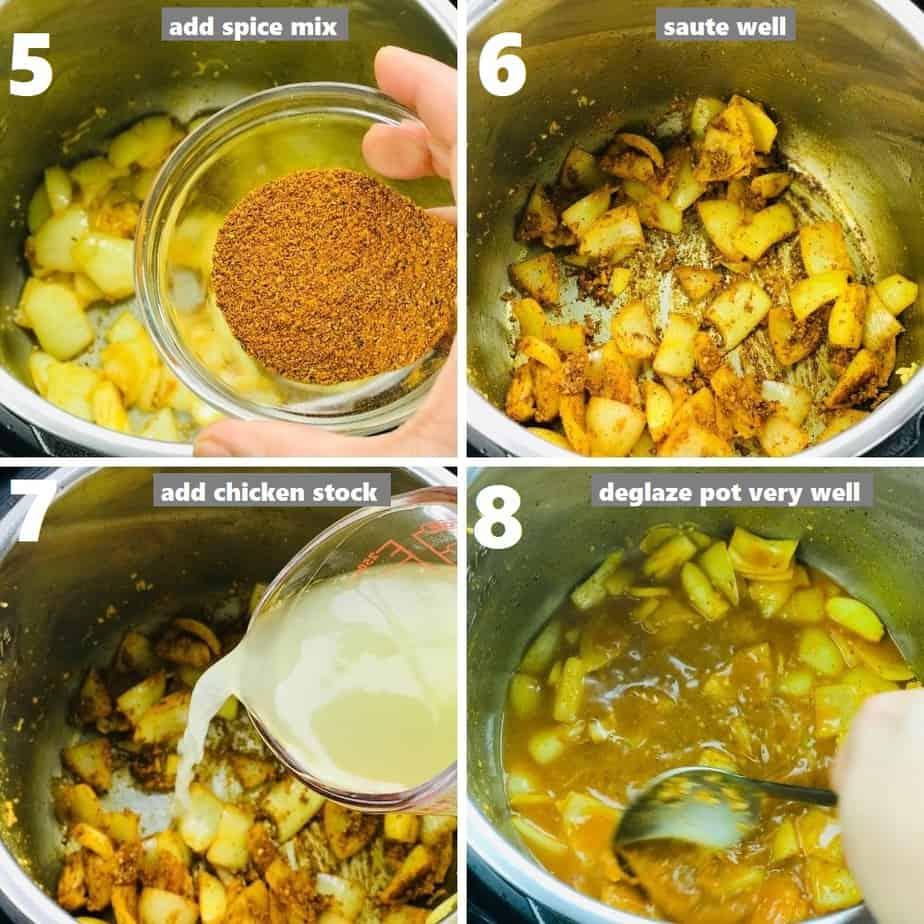 sauteing seasoning & deglazing instant pot