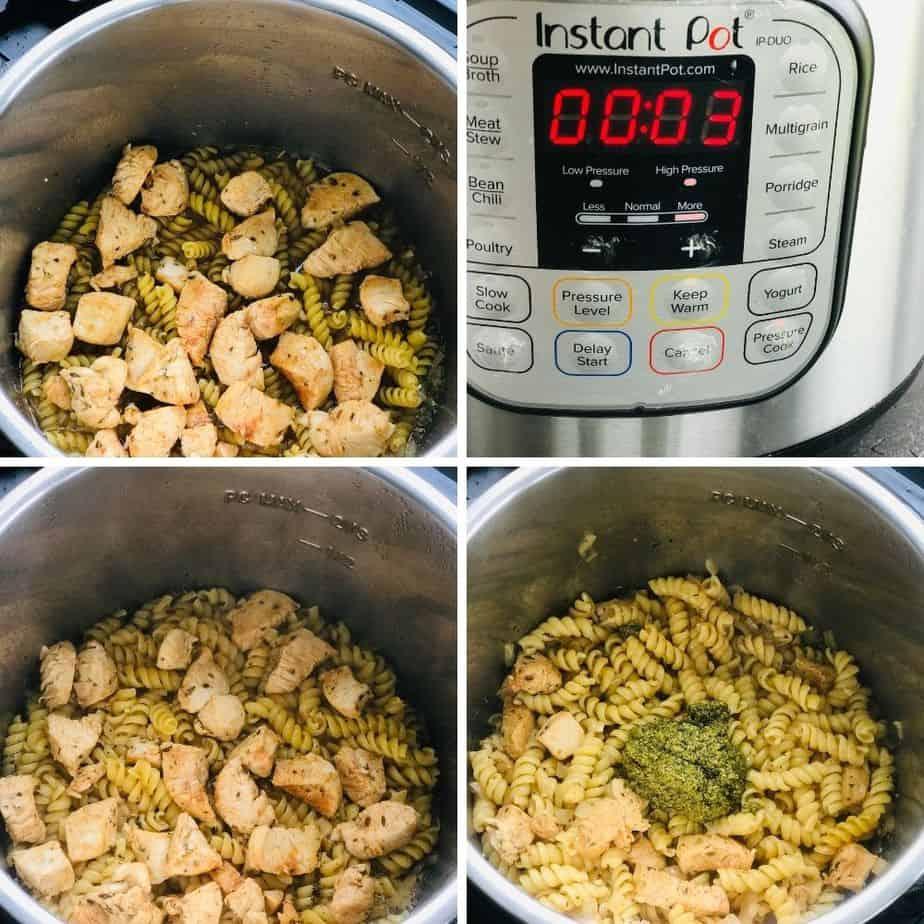 pressure cooking chicken pesto pasta